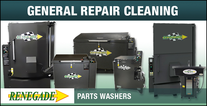 Renegade Parts Washers General Repair Cleaning